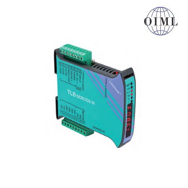 LAUMAS TLB-SERCOS III, IP-54, plast, LED (Vážní indikátor s komunikačním rozhranním SERCOS III, 3 výstupy, 2 vstupy)