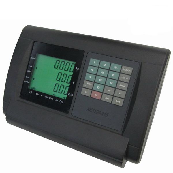 YAOHUA A15, IP-54, plast, LCD (Vážní indikátor pro neobchodní vážení s režimem počítání kusů nebo výpočtem ceny)