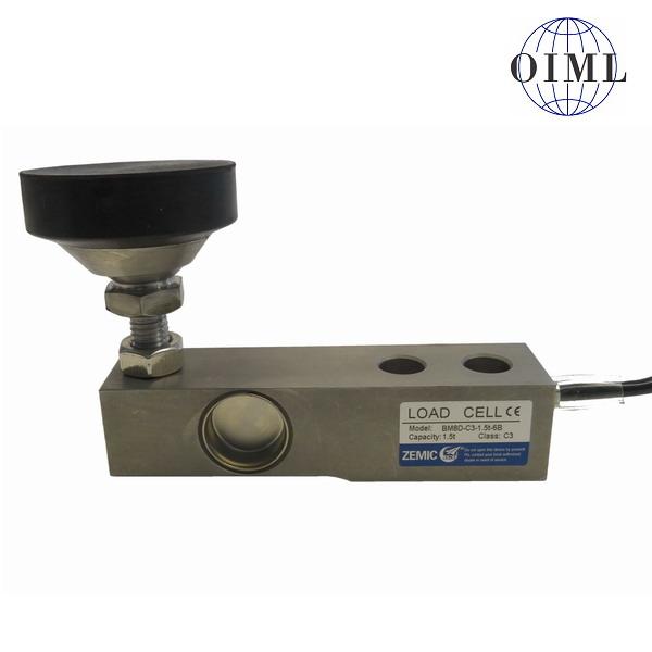 ZEMIC BM8D, 0,5t, IP-68, nerez (Tenzometrický nerezový snímač pro rohové zatížení ZEMIC model BM8D s nožkou)