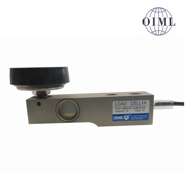 ZEMIC BM8D-W6, 0,5t, IP-68, nerez (Tenzometrický nerezový snímač pro rohové zatížení ZEMIC model BM8D-W6 s kyvnou nožkou BJ-8-207)