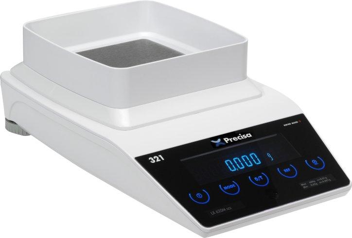PRECISA LX 320M, 320g/0,001g, 135mmx135mm (Profesionální přesná váha s vnitřní - interní kalibrací)