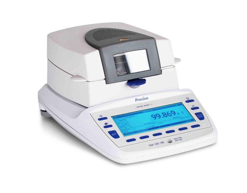 PRECISA EM 120-HR, 124g/0,1mg, 100mm (Profesionální analyzátor vlhkosti s vnitřní - interní kalibrací)
