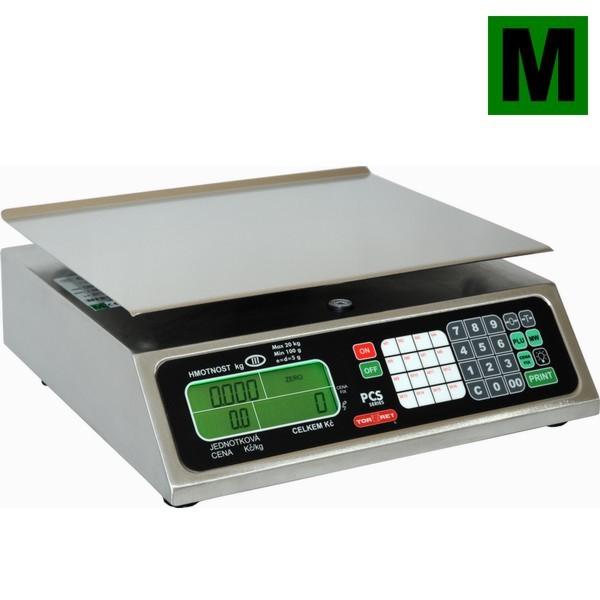 TORREY PCS-20, 20kg/5g, 350mmx280mm (Obchodní váha s výpočtem ceny)