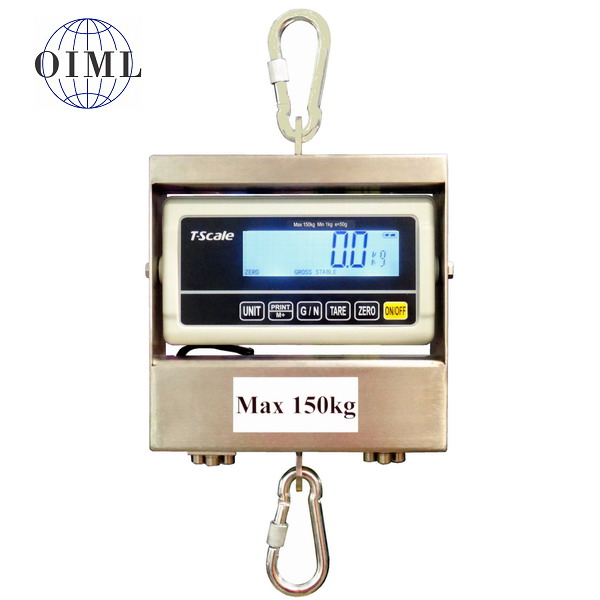 LESAK J1-RWP, 150kg/50g (Závěsná/jeřábová váha pro obchodní vážení s LCD displejem)