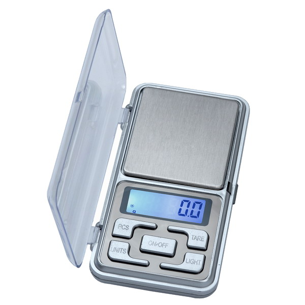 LESAK P058, 500g/0,1g, 50mmx55mm (Levná kapesní váha pro přesné vážení, vhodná i pro diabetiky)
