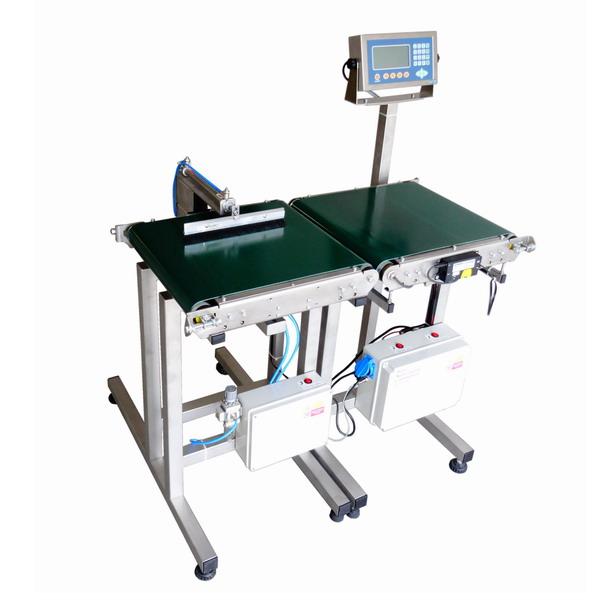 LESAK H400400VDVM, 15kg (Kontrola hmotnosti výrobku v nastaveném limitu s vyřazovacím pístem)