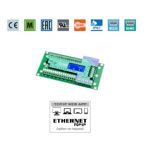 LAUMAS CLM8, IP-67, plast, LED (Vážící jednotka a slučovací krabice pro připojení 8. samostatných snímačů )