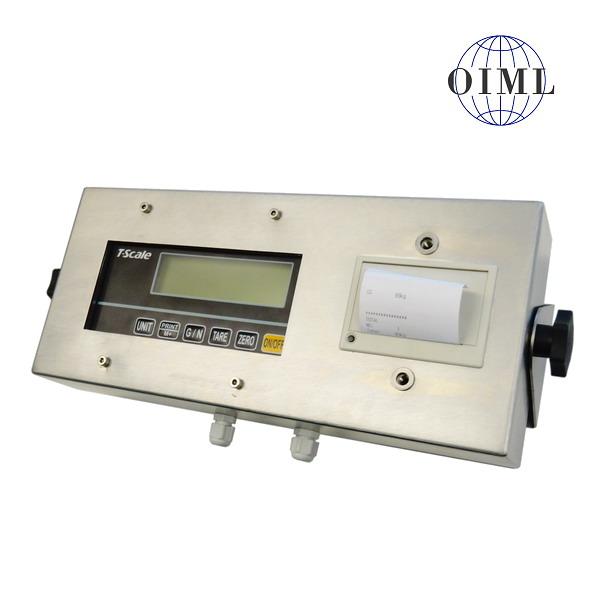 TSCALE RWP, IP-54, nerez, LCD (Indikátor RWP v nerezovém obalu se zabudovanou tiskárnou, pro obchodní vážení)