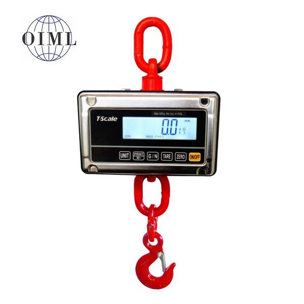 LESAK J1-RWS, 300kg/100g, nerez (Závěsná/jeřábová váha pro obchodní vážení s LCD displejem v nerezu)