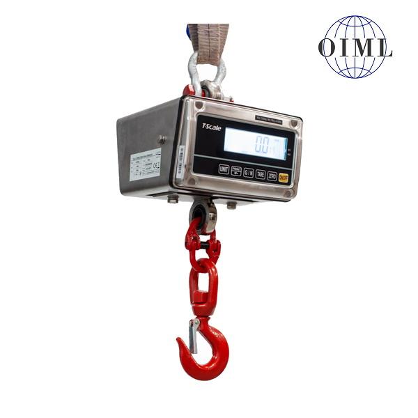 LESAK J1-RWS, 6t/2kg, nerez (Závěsná/jeřábová váha pro obchodní vážení s LCD displejem v nerezu)