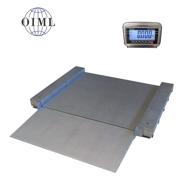 LESAK 4TU1212N, 300kg/100g, 1250mmx1250mm, nerez (Nerezová váha se sníženou vážní plochou včetně indikátoru)