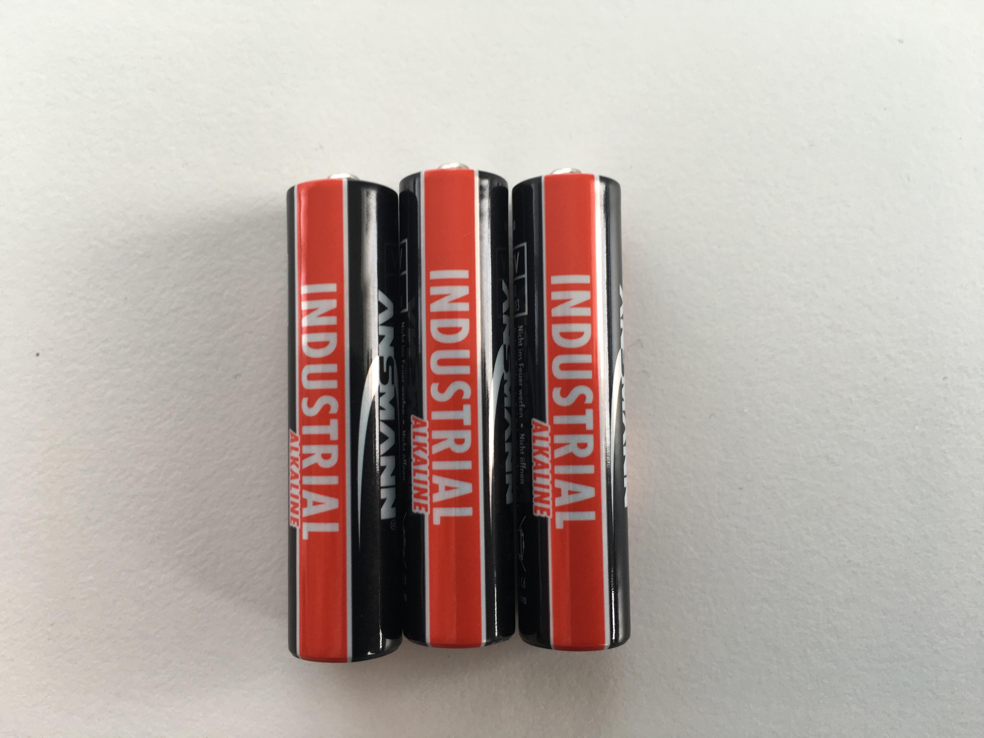 Baterie 3x AAA 1.5V alkalická (3ks alkalické baterie Ansmann)