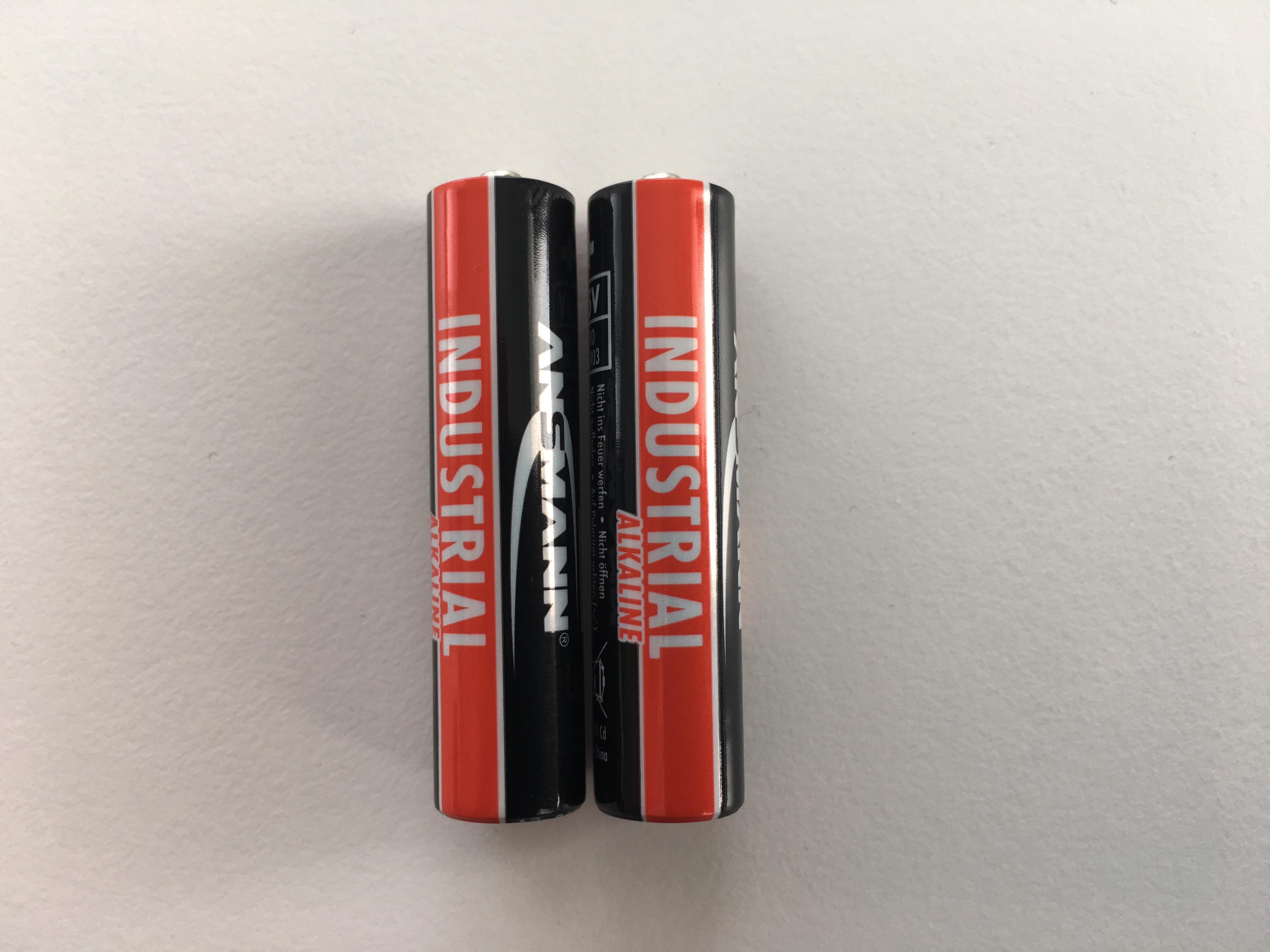 Baterie 2x AAA 1.5V alkalická (2ks alkalické baterie Ansmann)