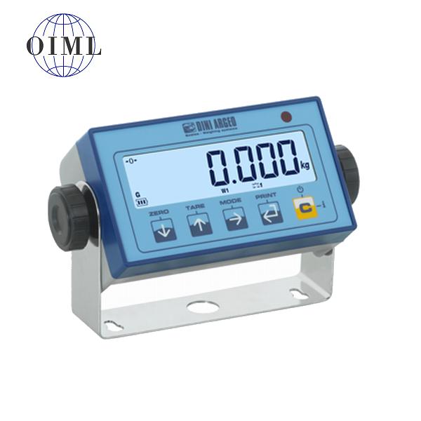 DINI ARGEO DFWL, IP-54, plast, LCD (Vážní indikátor certifikovaný dle normy EN45501/2015 pro obchodní vážení)