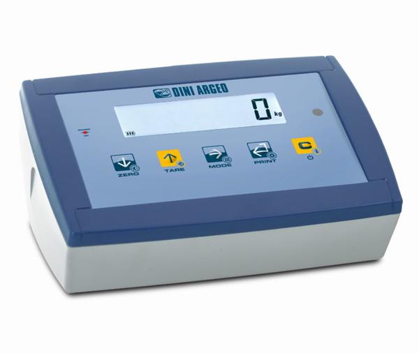 DINI ARGEO DFWXP, IP-65, plast, LCD  (Vážní indikátor certifikovaný dle normy EN45501/2015 pro obchodní vážení)
