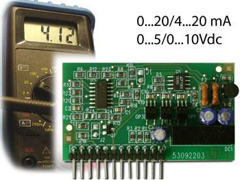 DINI ARGEO DAC160 (Vnitřní modul DAC160 – s analogovým výstupem 4-20mA/ 0-10Vdc)