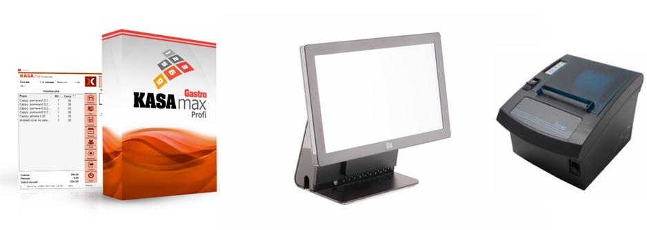 "LESAK PROFIPOS 15/169 + KASAMAX GASTRO PROFI (Plnohodnotný systém pro EET s 15.6"" dotykovým LCD displejem, termotiskárnou, operačním systémem WINDOWS a programem KASAMAX GASTRO PROFI)"
