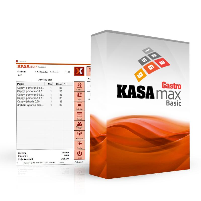 AMAX KASAMAX GASTRO BASIC (Základní verze pokladního systému KASAMAX pro gastronomii)
