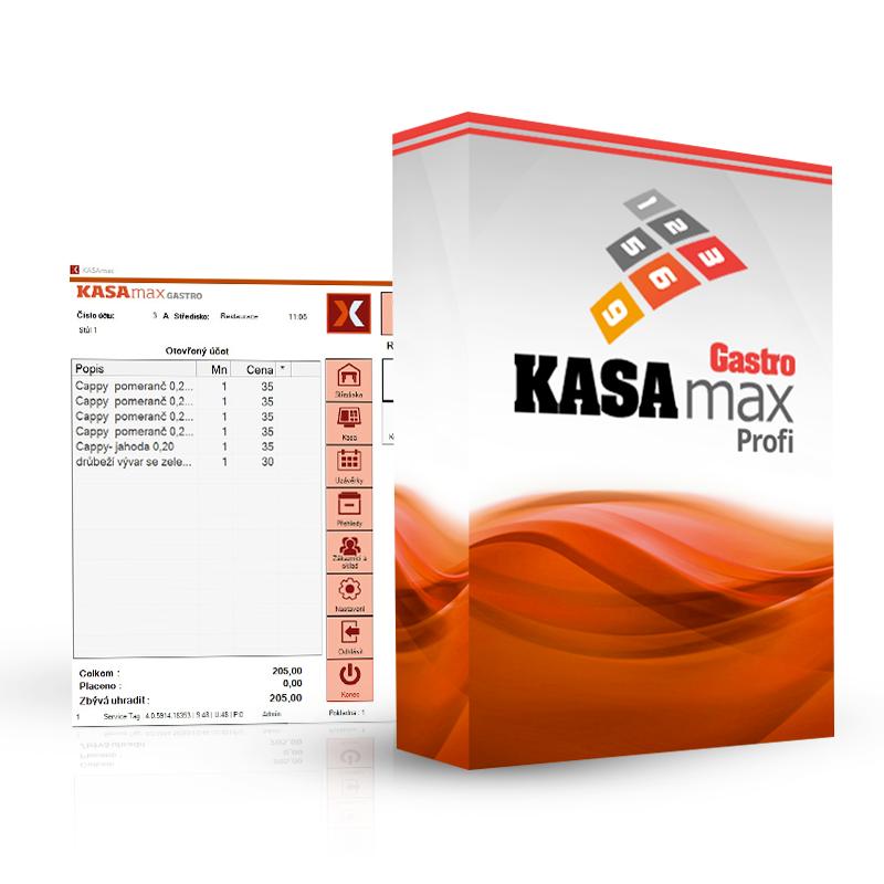 AMAX KASAMAX GASTRO PROFI (Plnohodnotná verze pokladního systému KASAMAX pro gastronomii)