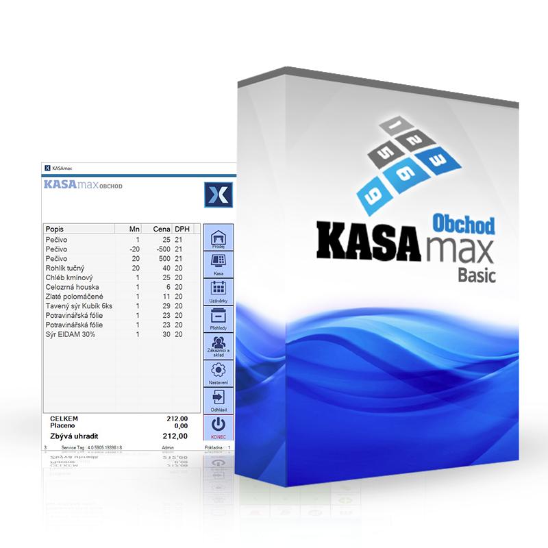 AMAX KASAMAX OBCHOD BASIC (Základní verze pokladního software KASMAX)