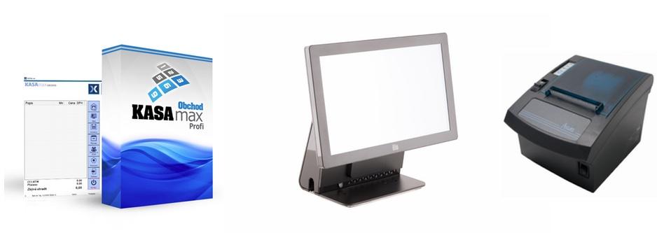 """LESAK PROFIPOS 15/169 + KASAMAX OBCHOD PROFI (Plnohodnotný systém pro EET s 15.6"""" dotykovým LCD displejem, termotiskárnou, operačním systémem WINDOWS a programem KASAMAX GASTRO PROFI)"""