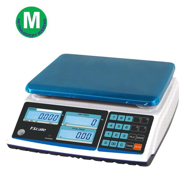 TSCALE ZTP, 6;15kg/2;5g, 270mmx200mm (Obchodní váha s výpočtem ceny v nízkém provedení)