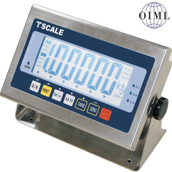 TSCALE CWS, IP-65, nerez, LCD (Vážní indikátor pro obchodní vážení)