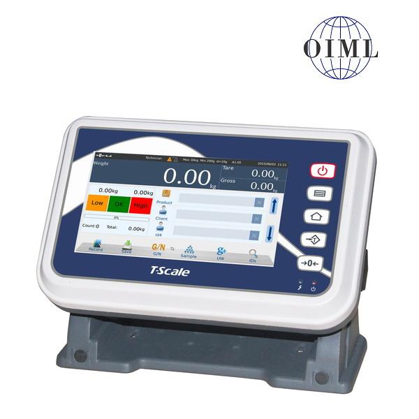 """TSCALE T7, IP-54, plast, LCD dotykový displej 7"""" (Inteligentní indikátor s databází produktů určený na specální požadavky vážení, pro obchodní vážení)"""