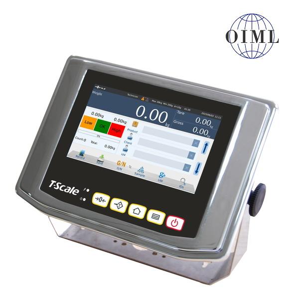 """TSCALE NS7, IP-65, nerez, LCD dotykový displej 7"""" (Inteligentní indikátor s databází produktů určený na specální požadavky vážení, pro obchodní vážení)"""