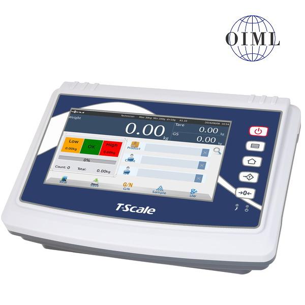 """TSCALE U8, IP-54, plast, LCD dotykový displej 8"""" (Inteligentní indikátor s databází produktů určený na specální požadavky vážení, pro obchodní vážení)"""