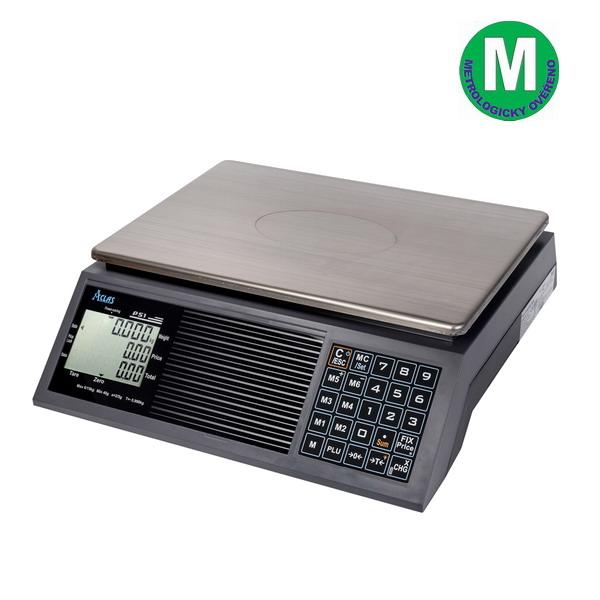 ACLAS PS1-15B, 6;15kg/2;5g, 330mmx230mm (Obchodní pultová váha s výpočtem ceny v nízkém provedení)