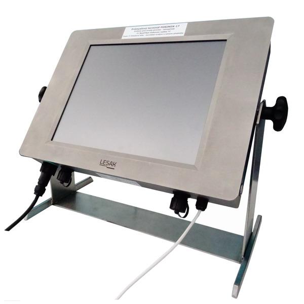 """LESAK POSINOX 17, voděodolný, nerez, LCD (Průmyslový počítač s dotykovým monitorem 17"""", odolný proti vniknutí vody)"""