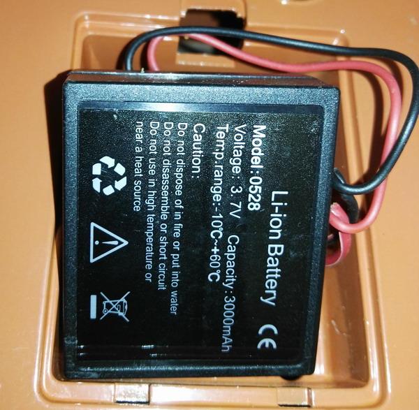 LESAK Baterie pro závěsnou váhu ZEV, JDV (Náhrádní díl - baterie k váze ZEV, JDV)