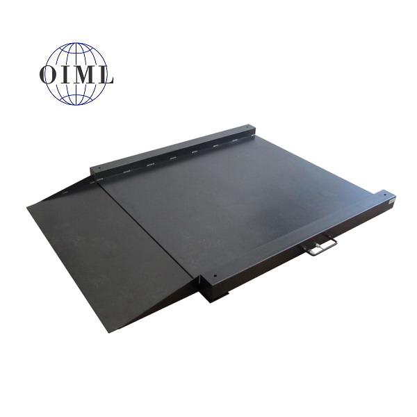 LESAK 4TU0808L, do 1,5t, 800x800mm, lak (Lakovaná nájezdová váha se sníženou vážní plochou bez indikátoru)