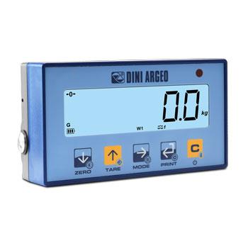 DINI ARGEO DFWPM - mobilní displej a ovladač , IP-54, plast, LCD  (Mobilní displej a ovladač pro indikátory a zobrazovače firmy DINI ARGEO)