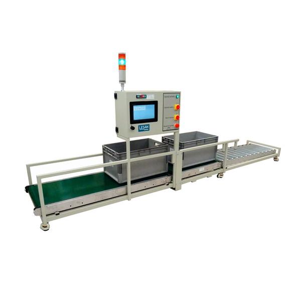 LESVD700450PD30/2-ITER10RS; 30kg/2g (AUTOMATICKÝ PÁSOVÝ DOPRAVNÍK PRO KONTROLU LIMITU HMOTNOSTI VÝROBKŮ)