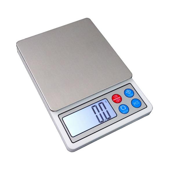 LESAK HD806, 3000g/0,1g, miska 100x100mm (Levná kapesní váha s velkým displejem, pro přesné vážení, vhodná i pro diabetiky)