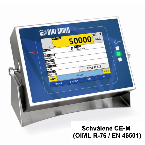 """DINI ARGEO 3590EGT8  dotykový LCD 8"""", nerez IP68 (3590ET8 Nerezový indikátor hmotnosti s 8"""" dotykovou obrazovkou pro průmyslové aplikace )"""