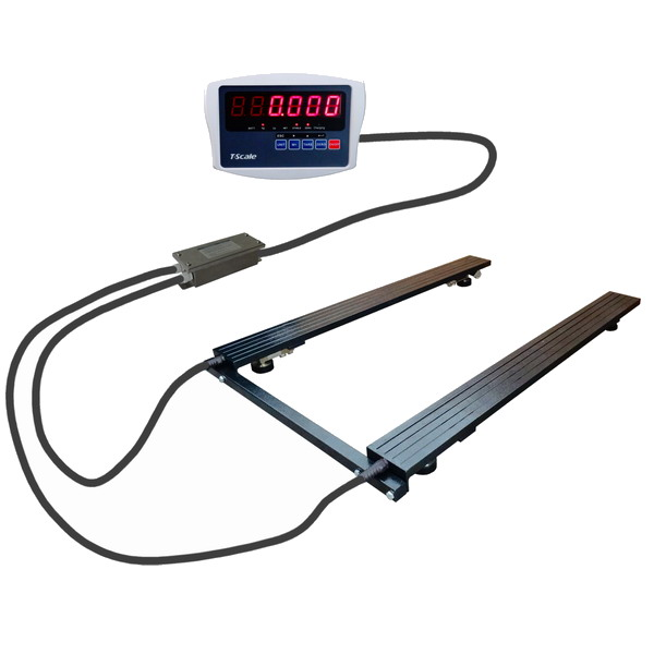LESAK P4T0812LELW/1500-UNI, 1500kg/500g, 820x1250mm, lak (Paletová váha pro vážení i nestandardních rozměrů palet a různých předmětů)