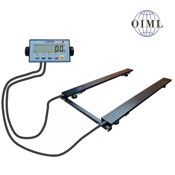 LESAK P4T0812LDFWL/1500-UNI, 1500kg/500g, 820x1250mm, lak (Paletová váha pro vážení i nestandardních rozměrů palet a různých předmětů)