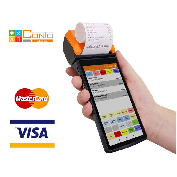 Mobilní pokladna Conto Mobile P2 s platebním terminálem pro EET (Registrační pokladna pro EET - elektronickou evidenci tržeb)