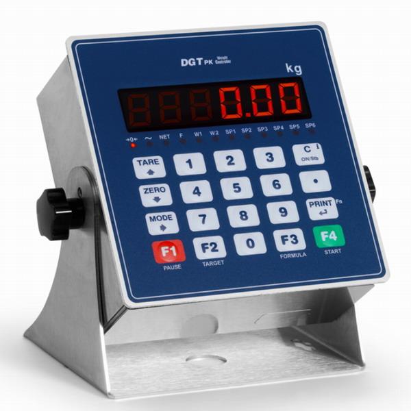 DINI ARGEO - DGTPKV2,  indikátor hmotnosti pro dávkování (Indikátor hmotnosti DINI ARGEO pro průmyslové aplikace, umístění na DIN lištu, 4 vstupy, 6 výstupů)
