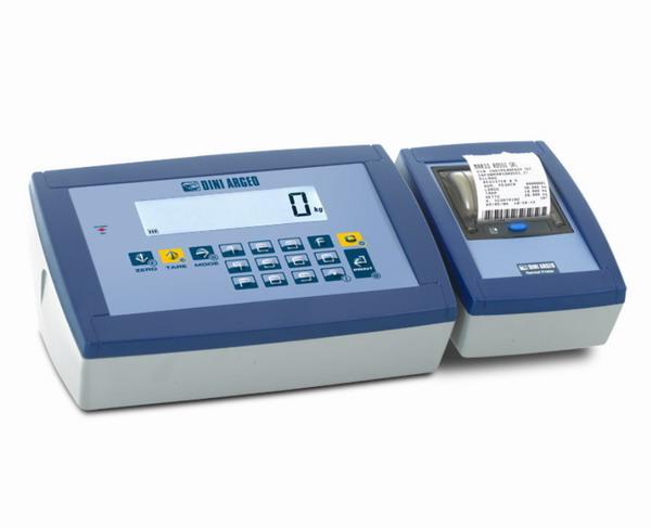 DINI ARGEO DFWKPXP, IP-65, plast, LCD, tiskárna (Vážní indikátor certifikovaný dle normy EN45501/2015 pro obchodní vážení s tiskárnou)