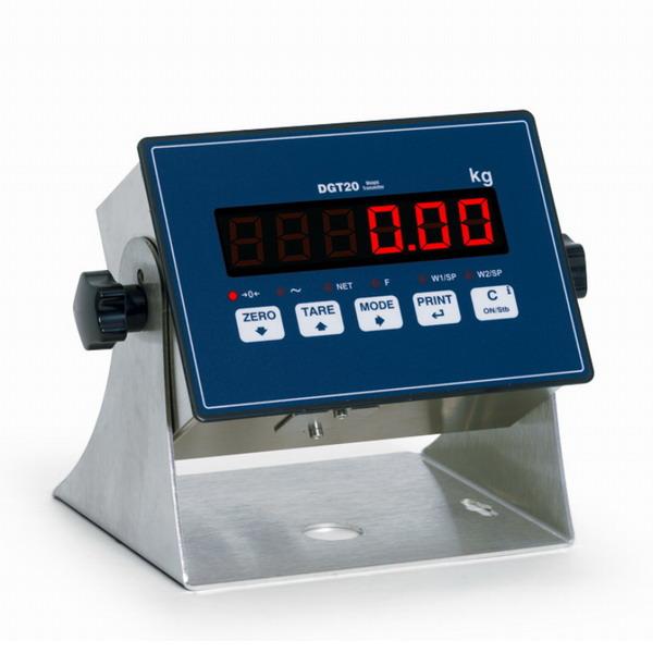 DINI ARGEO - DGT20, transmiter - indikátor hmotnosti s RS232/485, 2x IN, 2x OUT (Indikátor hmotnosti DINI ARGEO pro průmyslové aplikace, umístění na stěnu nebo do panelu)