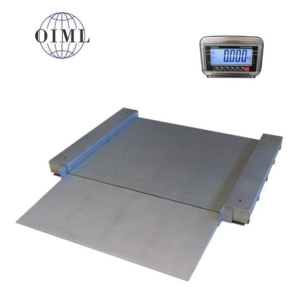 LESAK 4TU1010N, 1,5t/0,5kg, 1000x1000mm, nerez (Nerezová váha se sníženou vážní plochou včetně indikátoru)