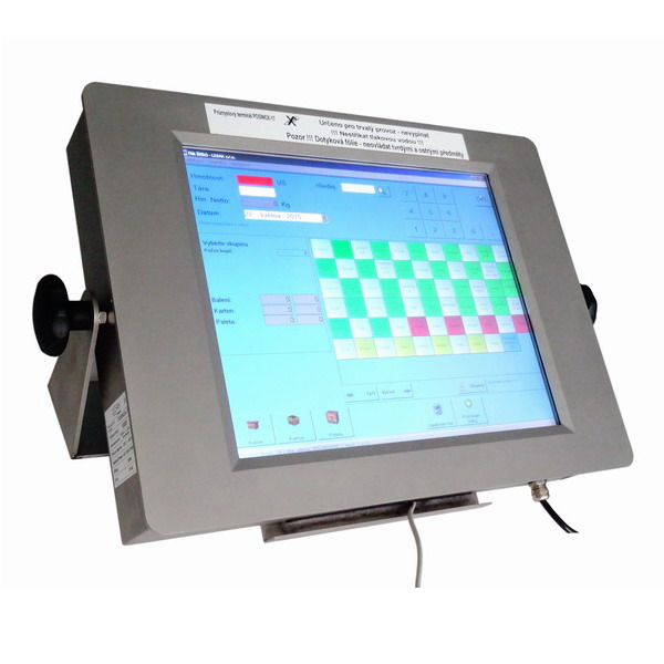 """LESAK POSINOX 17IP65, IP-65, nerez, LCD (Průmyslový počítač s dotykovým monitorem 17"""", IP-65, včetně držáku na zeď)"""