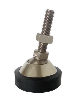 Nožka z poniklované oceli HJ201/0,5-2T/M12 (Stavitelná nožka pro střihové snímače HJ-8-201, zatížení 0,5 až 2t)