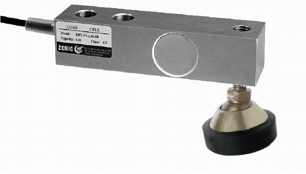 ZEMIC B8D, 0,5t, IP-67, nerez (Tenzometrický nerezový snímač pro rohové zatížení ZEMIC model B8D s nožkou)