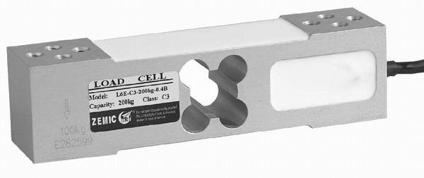 ZEMIC L6E, 50kg, IP-65, hliník (Tenzometrický snímač zatížení pro středové zatížení ZEMIC model L6E)