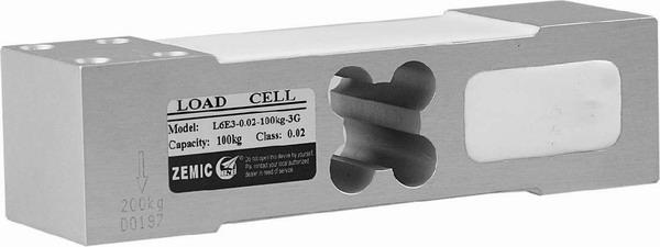 ZEMIC L6E3, 50kg, IP-65, hliník (Tenzometrický snímač zatížení pro středové zatížení ZEMIC model L6E3)